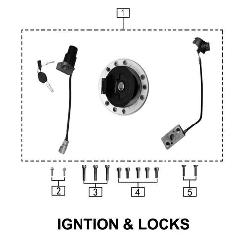 Whole Bike Locking Parts Set