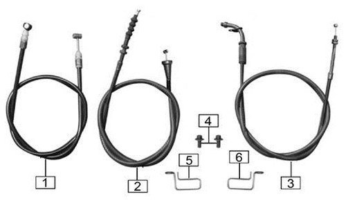 Seat cushion lock cable 1