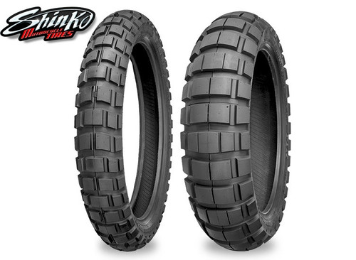 TIRE, REAR, Shinko 804/805 Crossfly - 120/90-18 TT