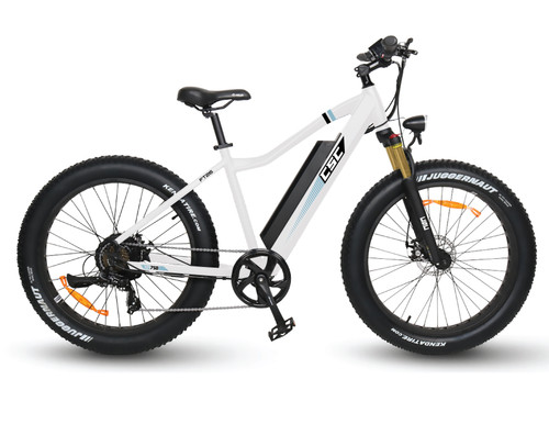 "FT750XP-26 Fat Tire E-Bike w/ 26"" Wheels - White"