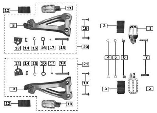 Left rear Foot Peg 1