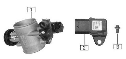 Air intake pressure/temperature sensor