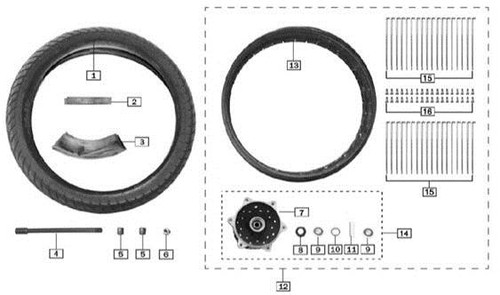 Axle,front wheel 1
