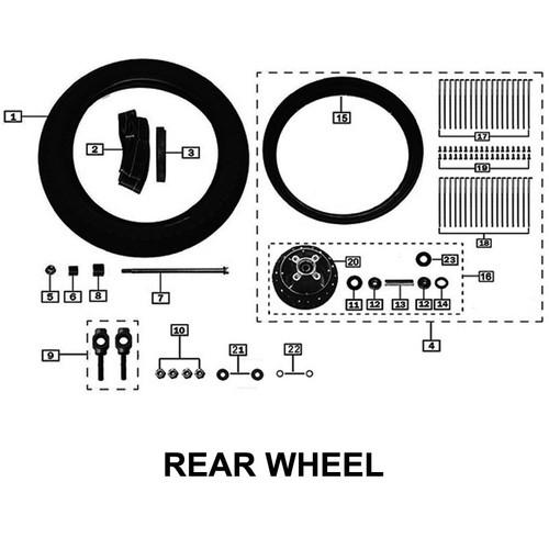 AXLE,REAR WHEEL 2