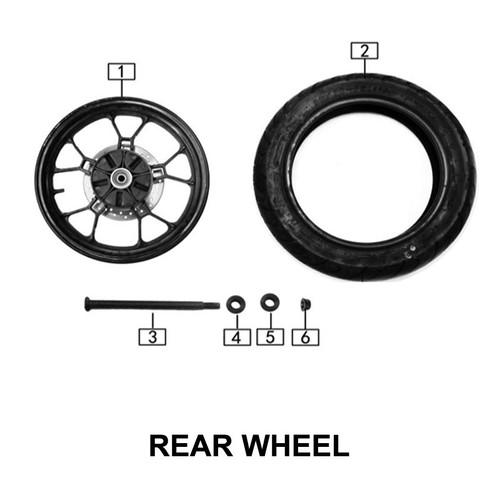 Axle,rear wheel