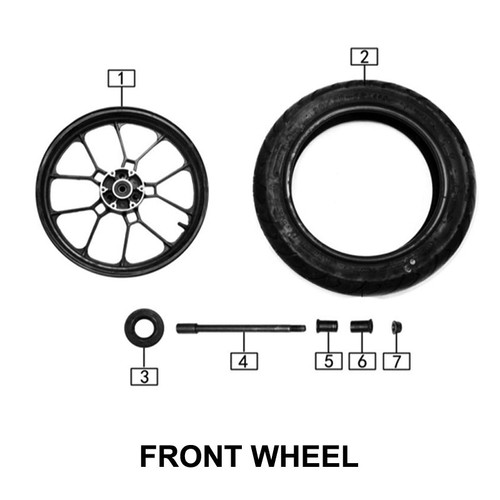 Axle,front wheel