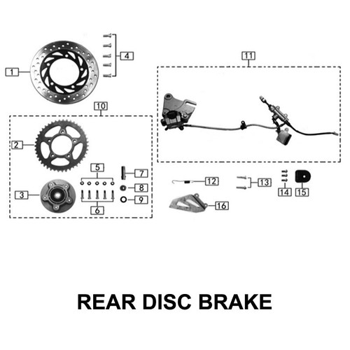 Rear brake arm return spring