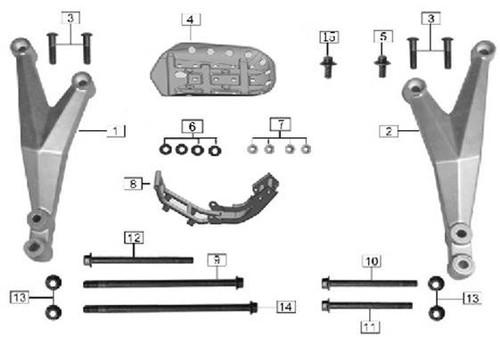 Front suspension, engine 2