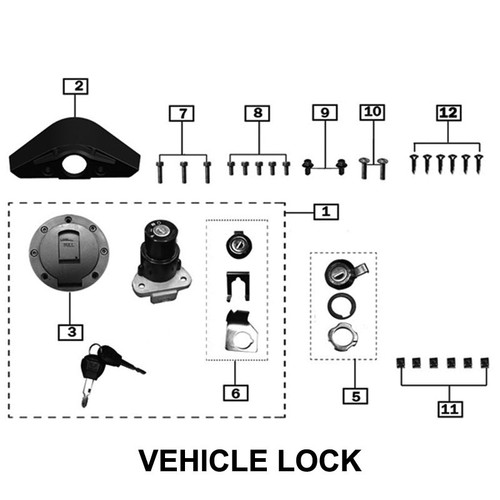 WHOLE VEHICLE,LOCKING COMPONETS