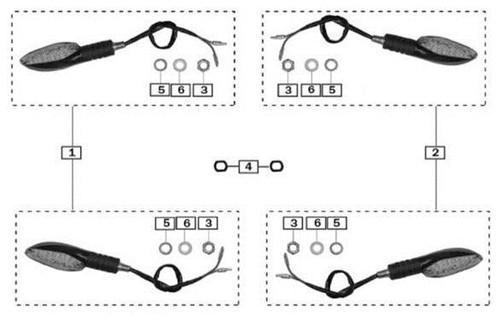 Turning lamp positioning block