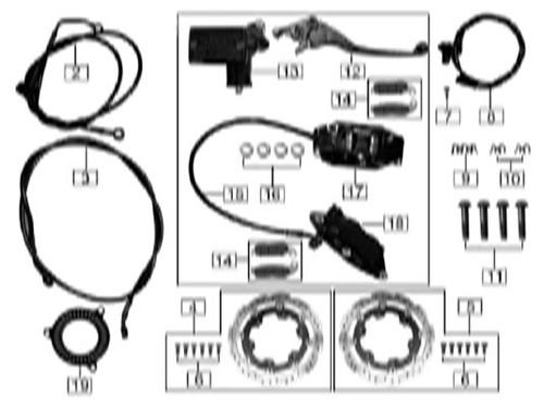 Front disc brake oil pipe line clip 1
