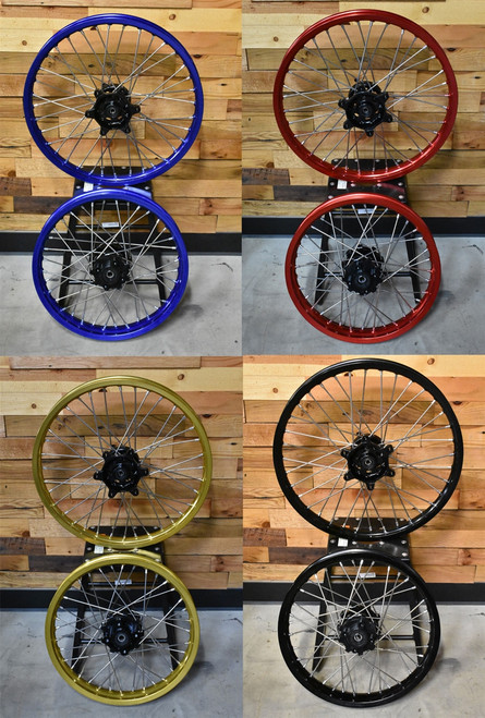 TT250 WHEEL SET,18X2.15 & 21X1.60, ASSEMBLED