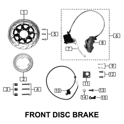 Internal six angle brake disc screw M8X45 (10x5)