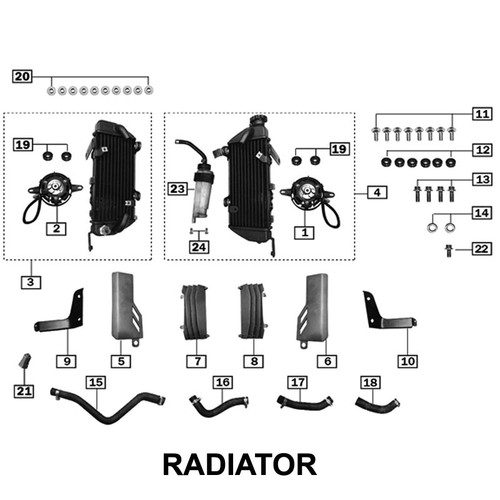 RIGHT RADIATOR