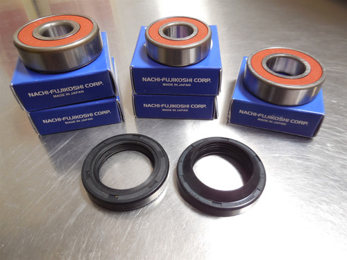 RX3, REAR HUB BEARING AND SEAL KIT, 7PC, JAPANESE BEARINGS