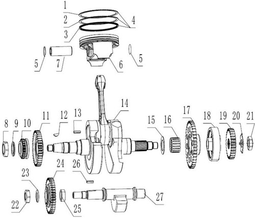 Crankshaft Connecting-Rod Assy 1