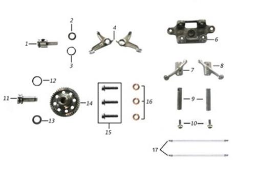 TT250 Rocker Arm Assembly Parts Diagram.