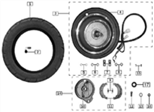 Front wheel tyres