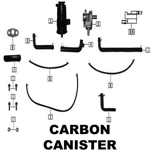 Exhaust gas circulation rubber tube