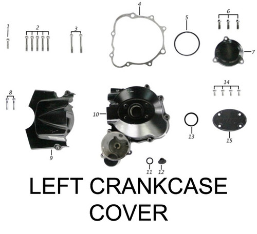 FRONT PART L.CRANKCASE COVER