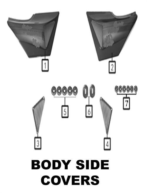 Left Side Cap Gloss Black