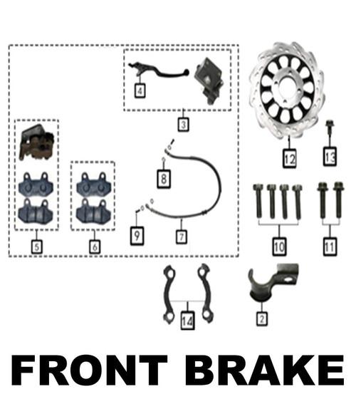 upper tube clip,disc brake