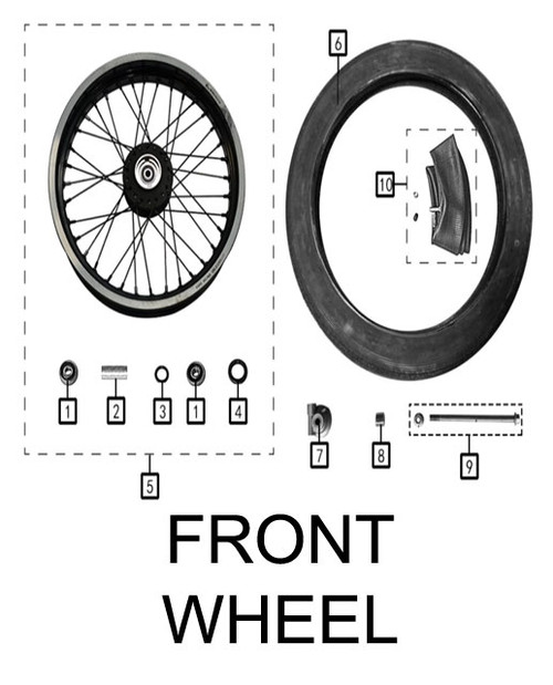 Inner tube,front wheel