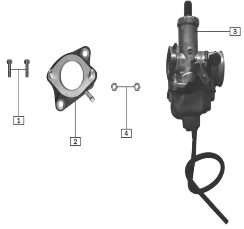 TT250 Carburetor Parts Diagram.