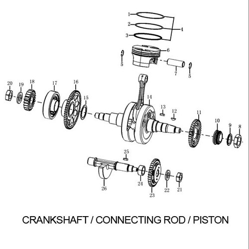 RX3 Crankshaft Connecting Rod