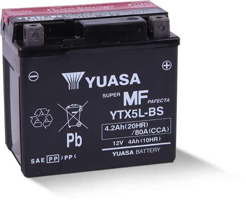 BATTERY, MAINTENANCE FREE YUASA   12 VOLT / FITS TT250