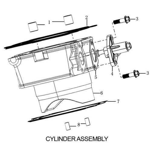 CYLINDER BLOCK ASSEMBLY, RX-3