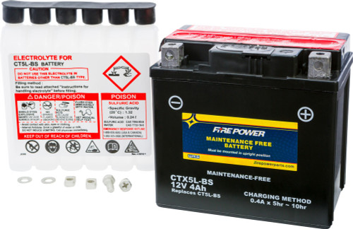 BATTERY, CTX5L-BS - TT250 Replacement