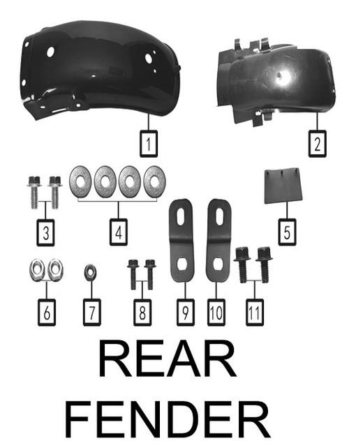 Rear part,rear fender(White)