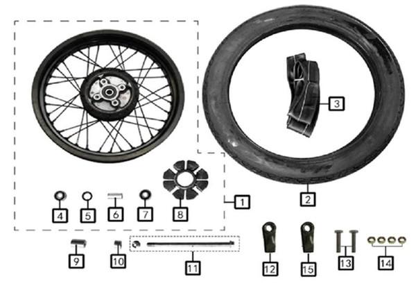 Axle, Rear Wheel m14×1.5×255