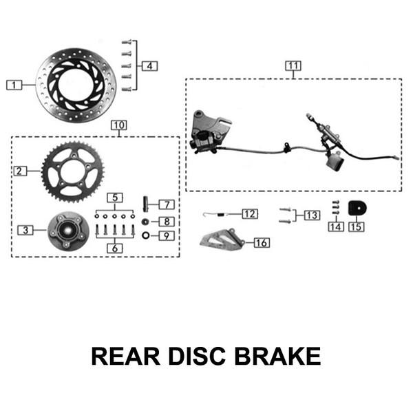 Rear bracke Rotor