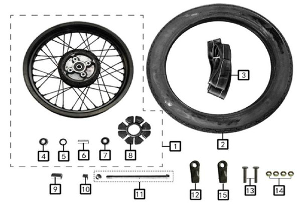 Buffer Block, Rear Wheelx