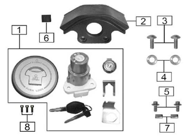 Whole vehicle lock set