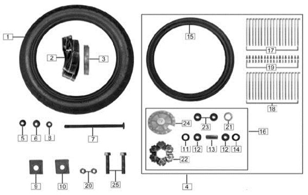 Spoke,rear wheel