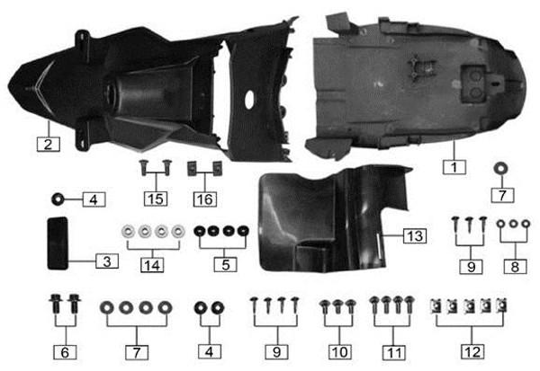 Rear reflector 2