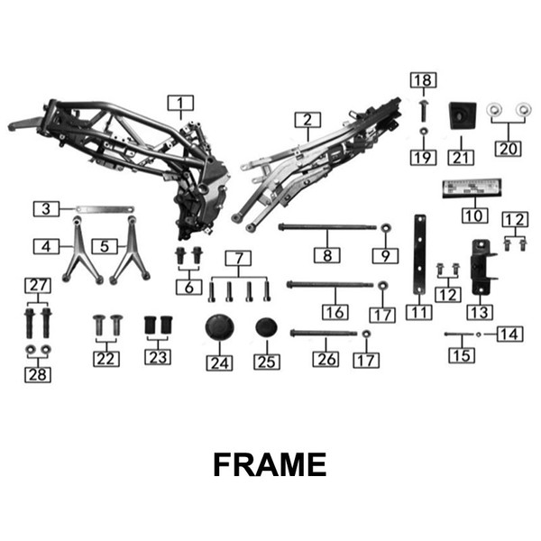 Frame, rear section