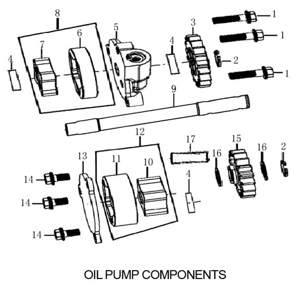 OIL PUMP ROTOR, WE DONT STOCK, BUY SEPERATE PIECES 1