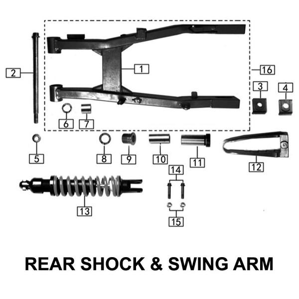 Rear Swingarm Bolt