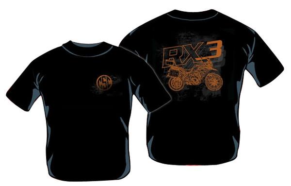 T-SHIRT, RX3 BLACK