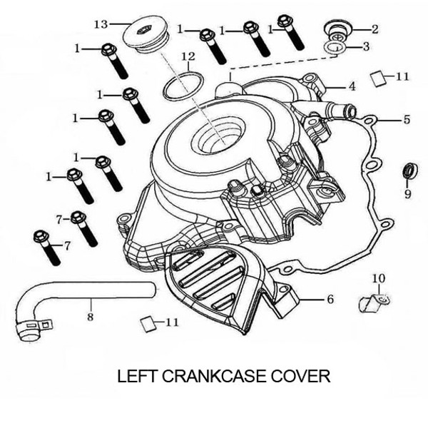GASKET, LEFT CRANK CASE COVER