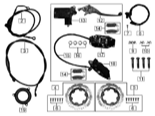 Front disc brake oil pipe line clip