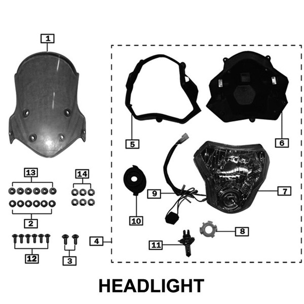 head lamp without blue spot