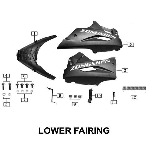 Left lower guide cover bracket