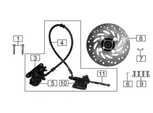 Brake Pad, rear disc brake