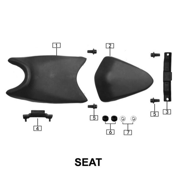 Seat, Rear Pad