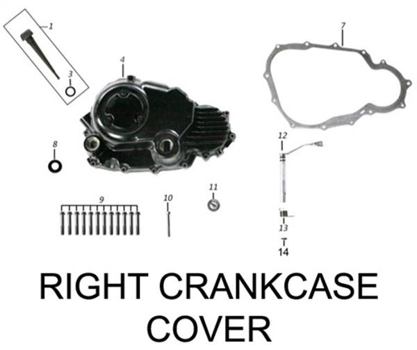 DECORATE COVERxR.CRANKCASE COVER